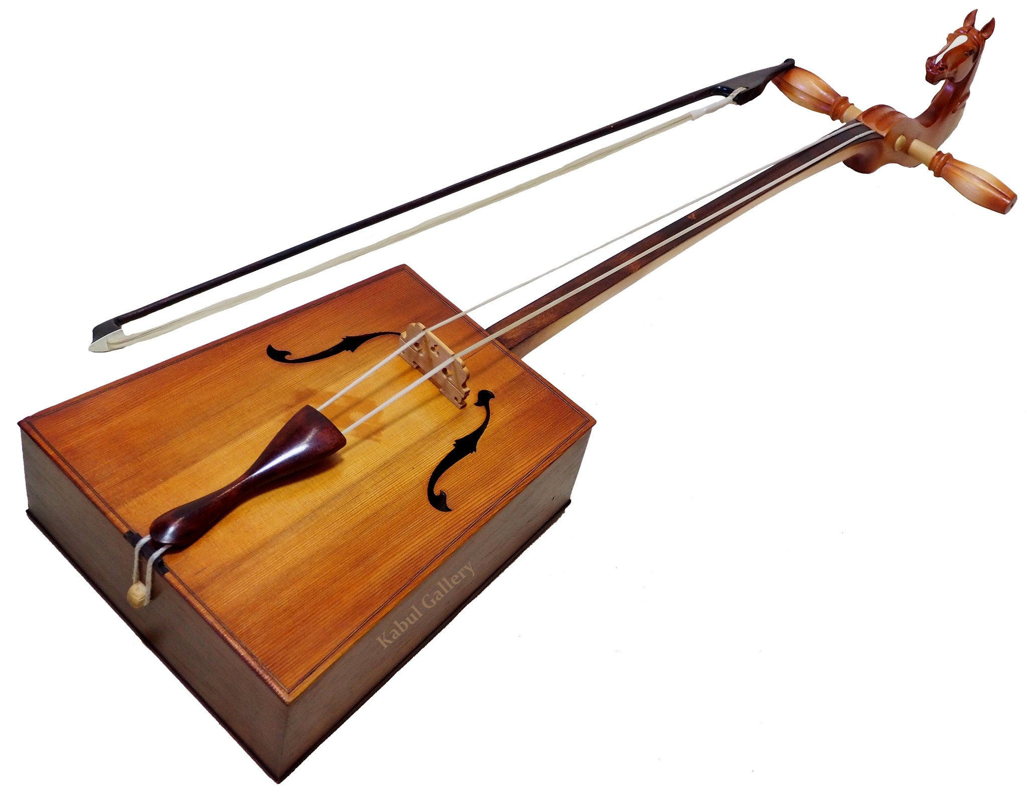 Morin khuur horsehead fiddle traditional folk musical instrument  from  Mongolian