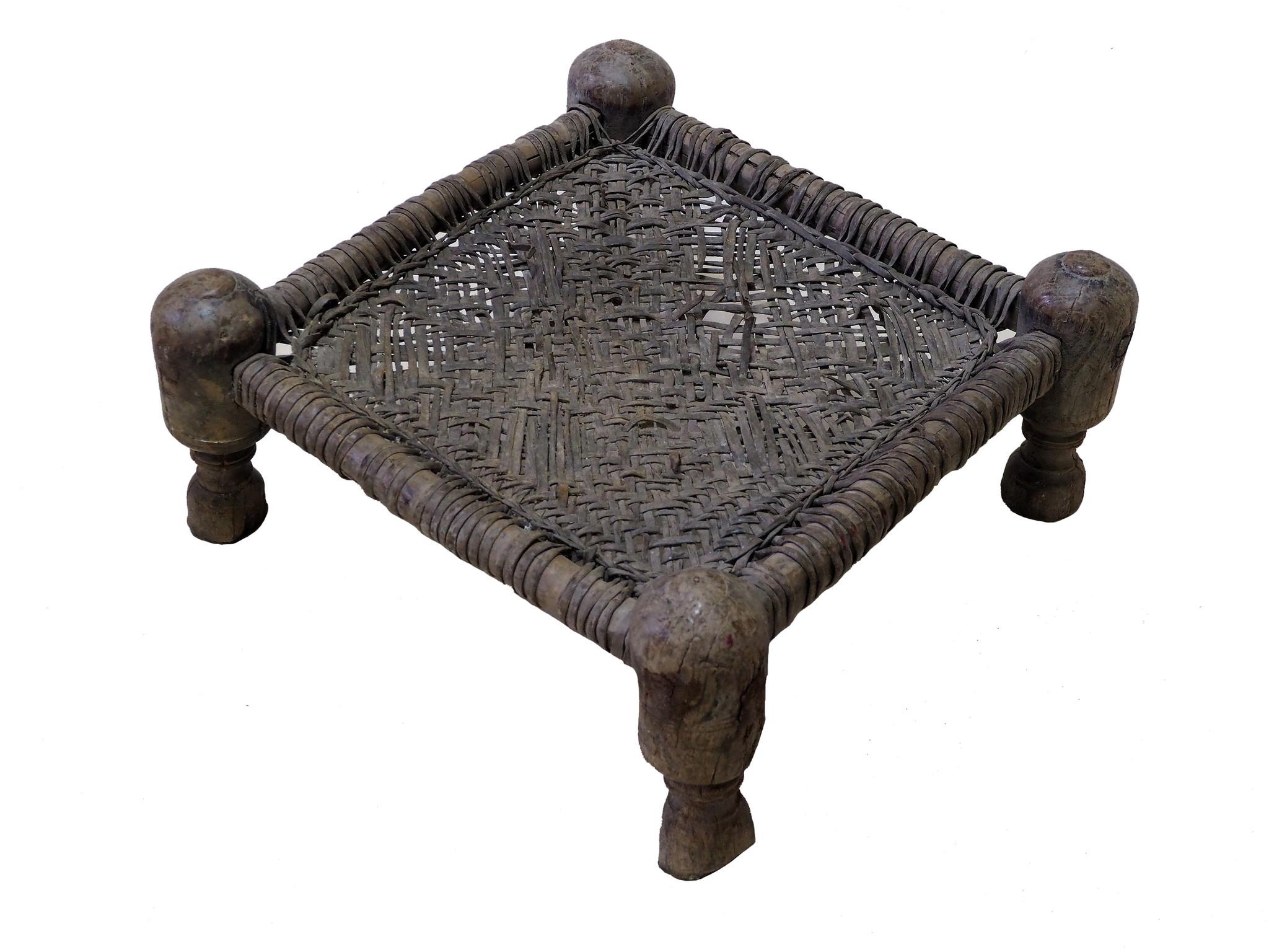 42x42 cmAntique Nuristan Chair  stool  No:NUR21-C