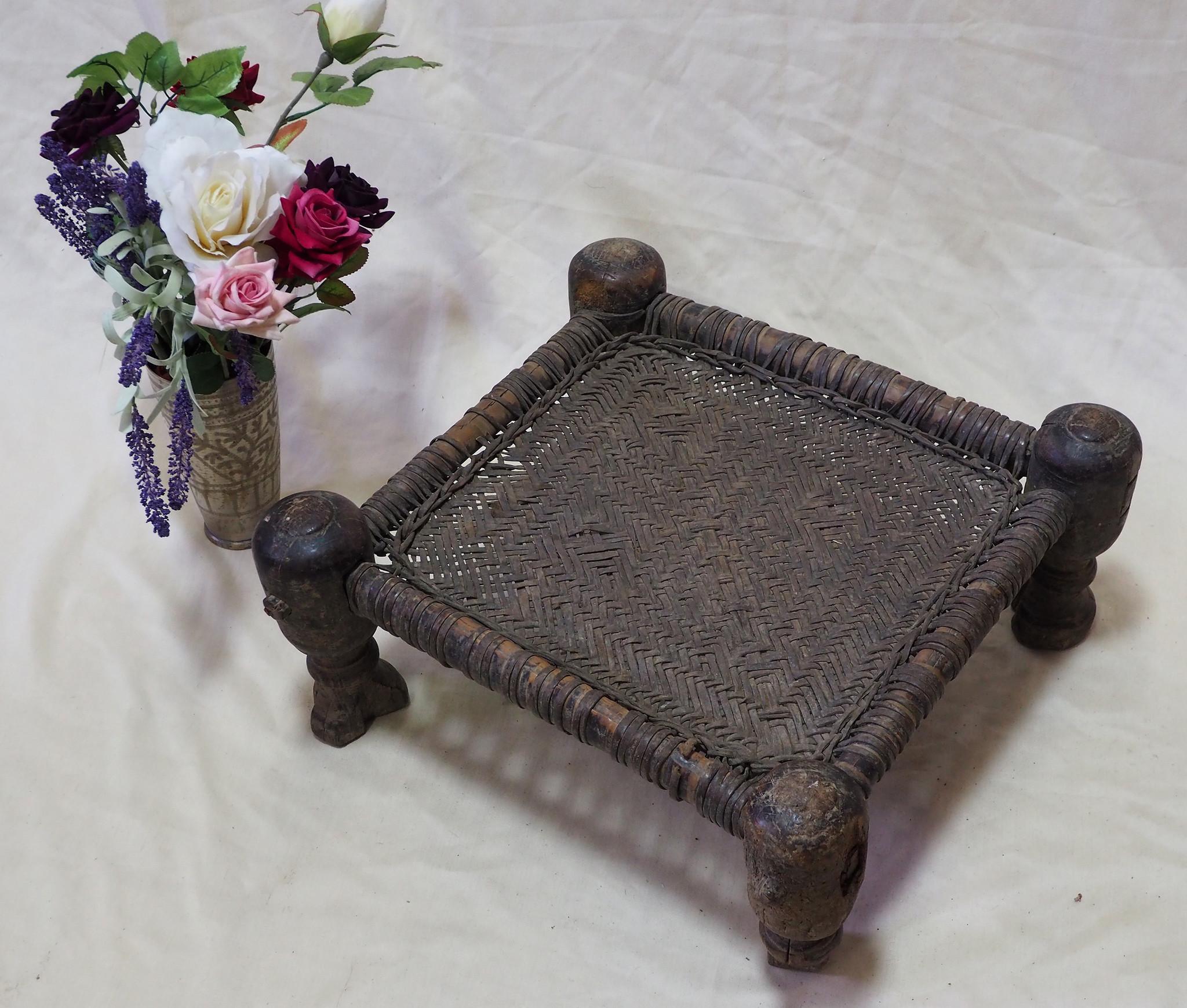 45x45 cm Antique Nuristan Chair  stool  No:NUR21-D