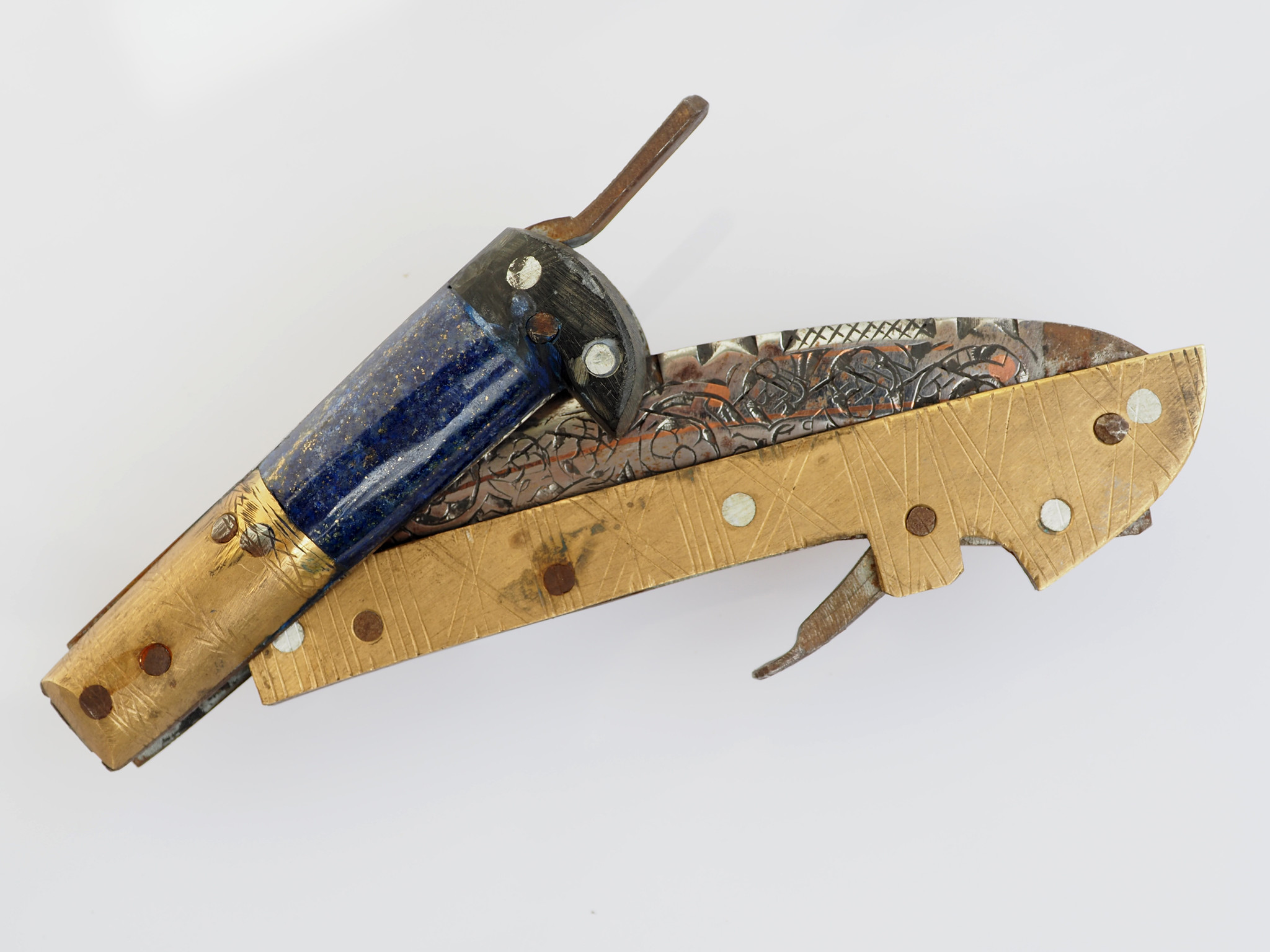 27 cm Messer Dolch choora dagger lohar Khybe messer Klappsense  Sense aus Afghanistan Pakistan Nr:21G