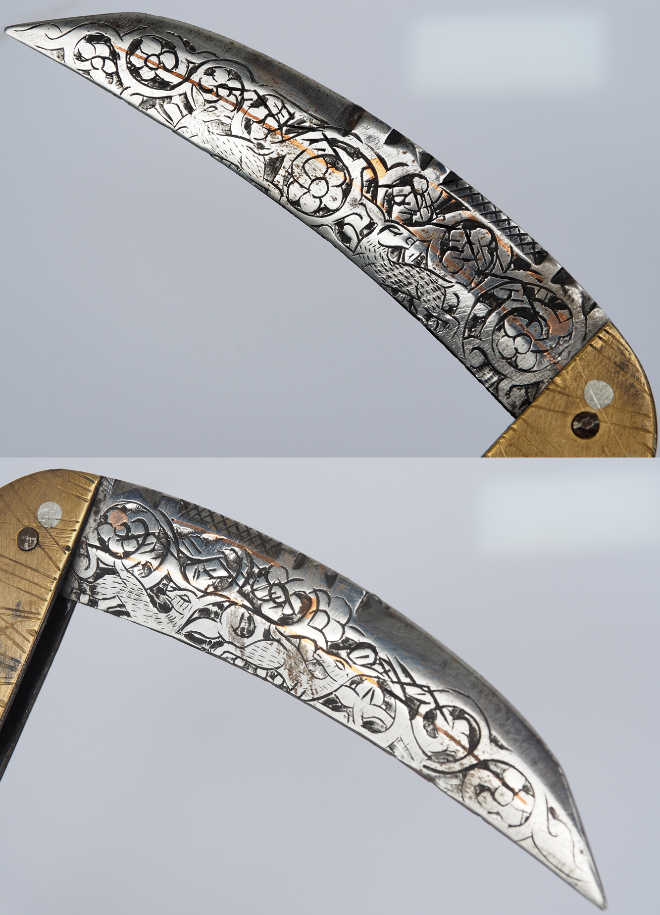 27 cm Knife Islamic scythe Short sword Dagger choora Pesh kabze  lohar Knife Khyber sickle Pick lapis  handle afghanistan pakistan :21G