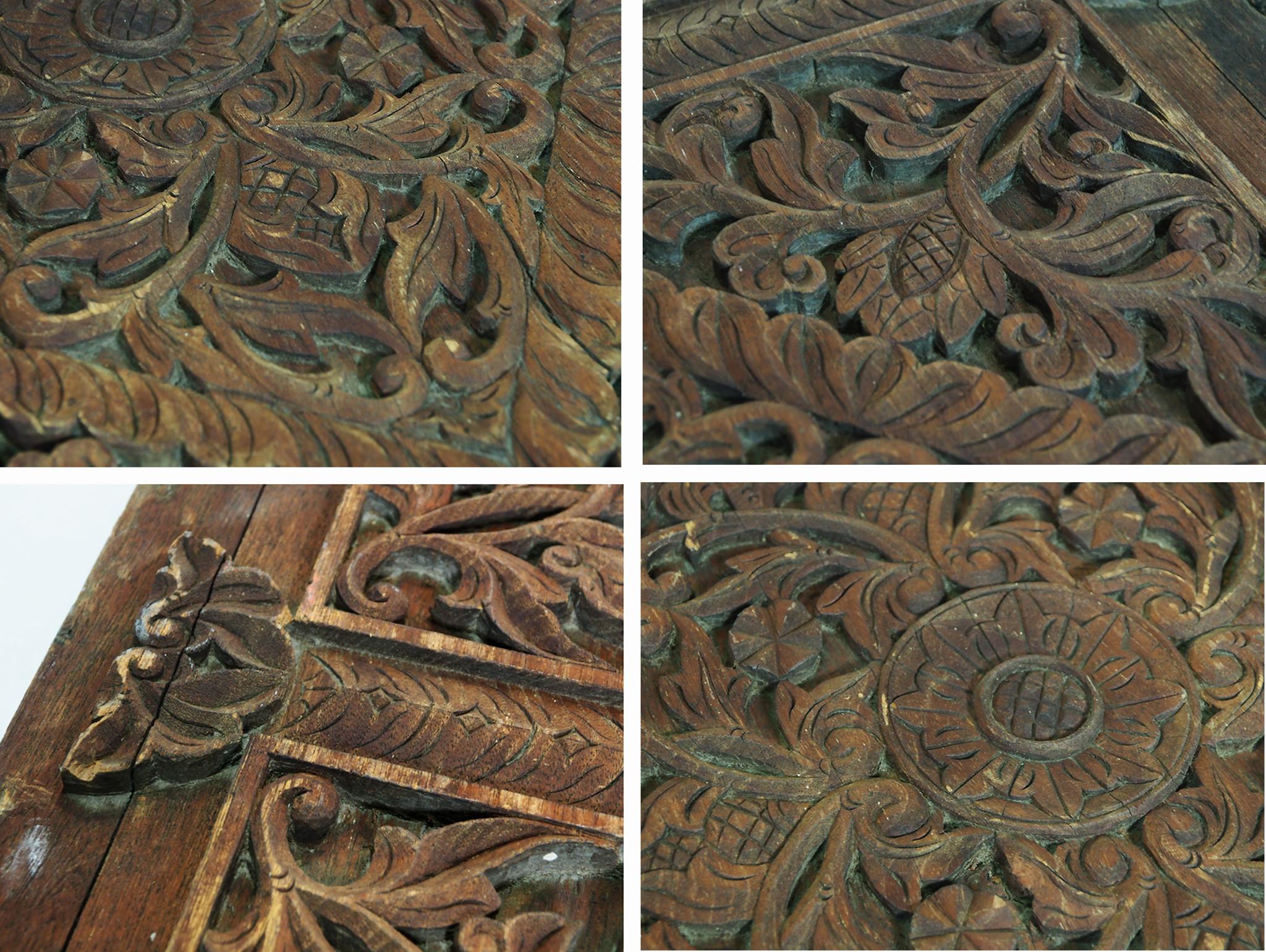 Antique orient vintage carved wooden Door from Nuristan Afghanistan