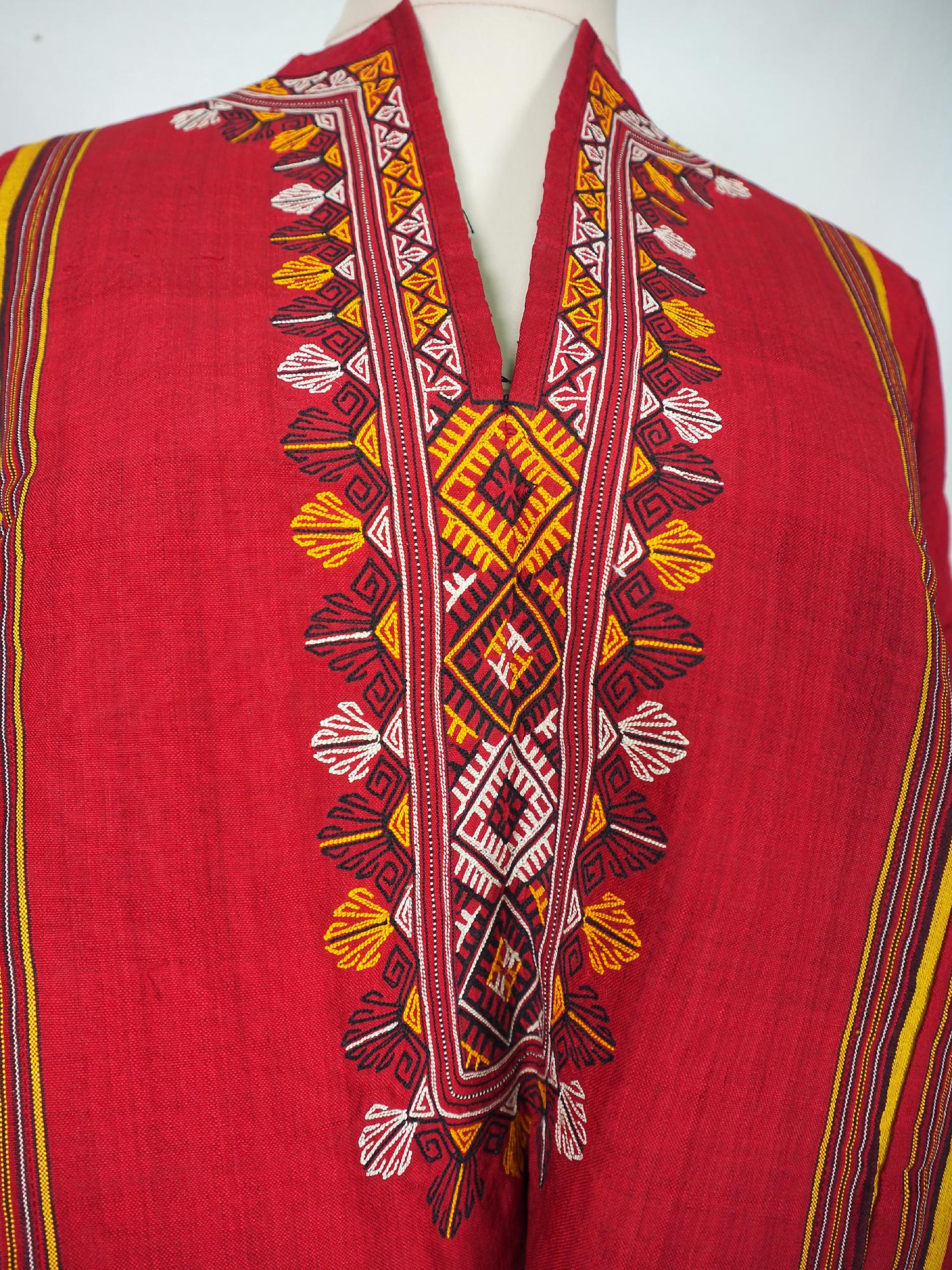 hand embroidered nomadic Turkmen Uzbek Afghan Ethnic  silk dress   No-21/11