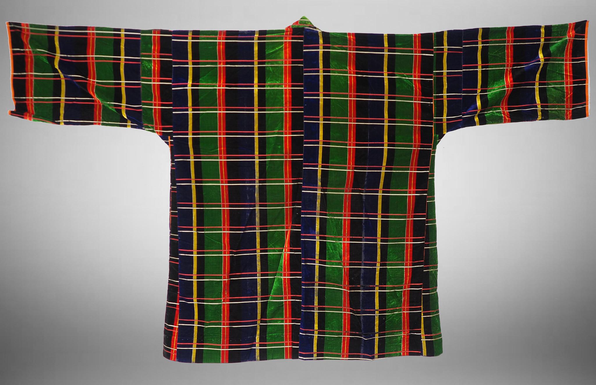 hand embroidered nomadic  Uzbek velvet Ethnic  silk dress   No-21/10