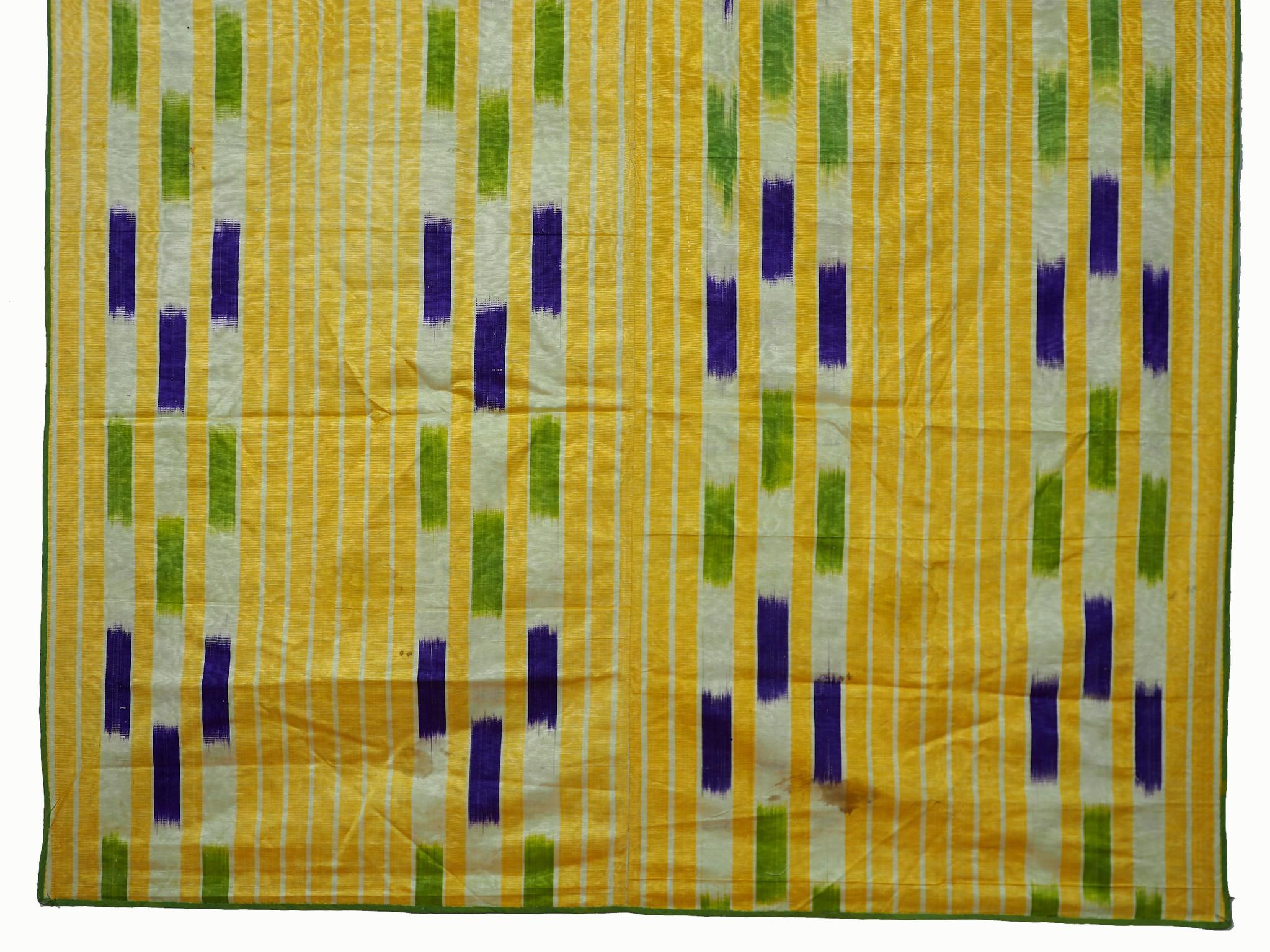 Antique  Uzbek tribal  Silk Ikat  Wall Hanging 21/1