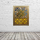 100x80 cm Afghan massiv holz Gitter Maschrabiyya
