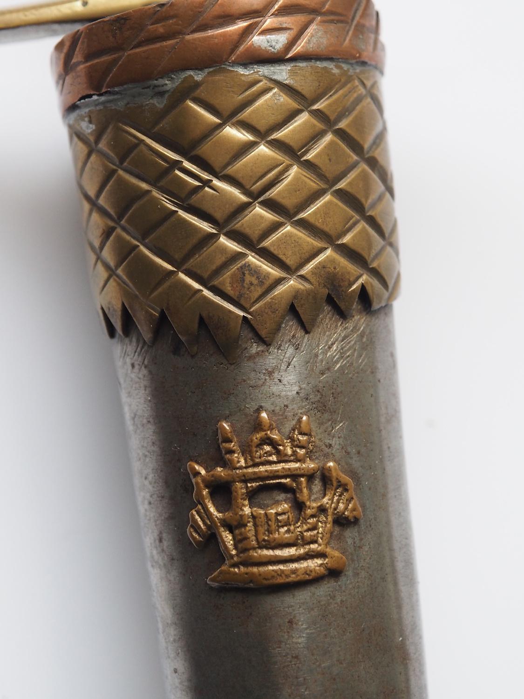 Messer  Pesh kabze   mit Afghanistan WappenNr:EB/2