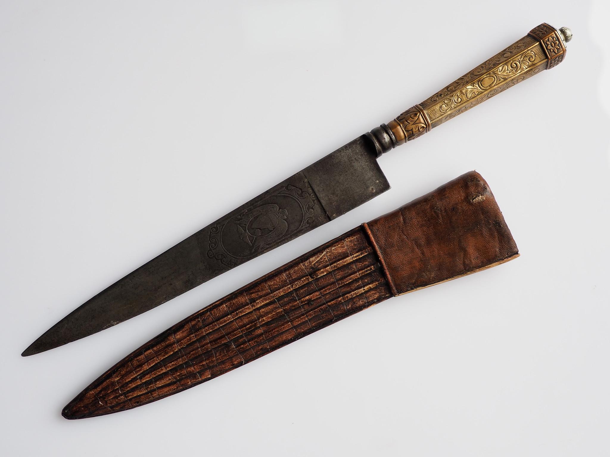 Antik Messer  mit Wappen Boliviens Nr:EB/1