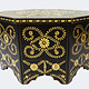 80x80 cm cm antique-look orient colonial solid wood hand painted  table Coffee Table living room table  from Afghanistan No:A