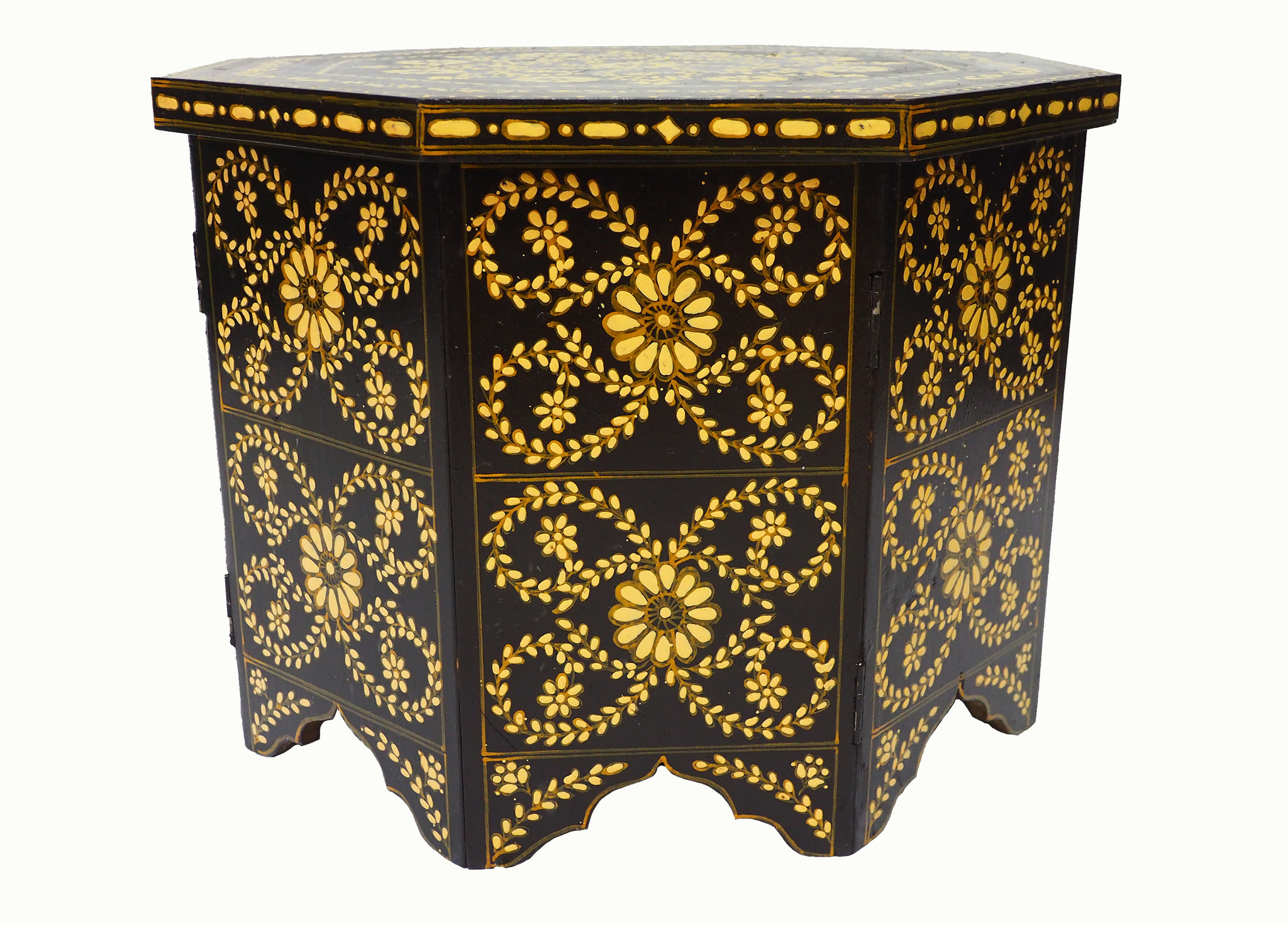 60x60 cm cm antique-look orient colonial solid wood hand painted  table Coffee Table living room table  from Afghanistan No:2