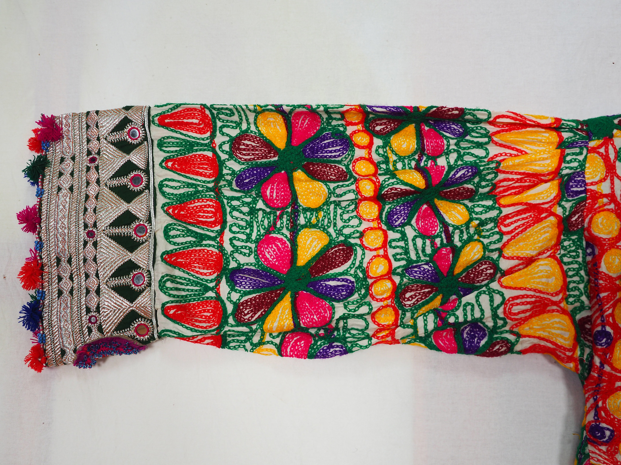 2 piece vintage hand embroidered nomadic Kuchi Ethnic dress from Afghanistan No-WL21-2