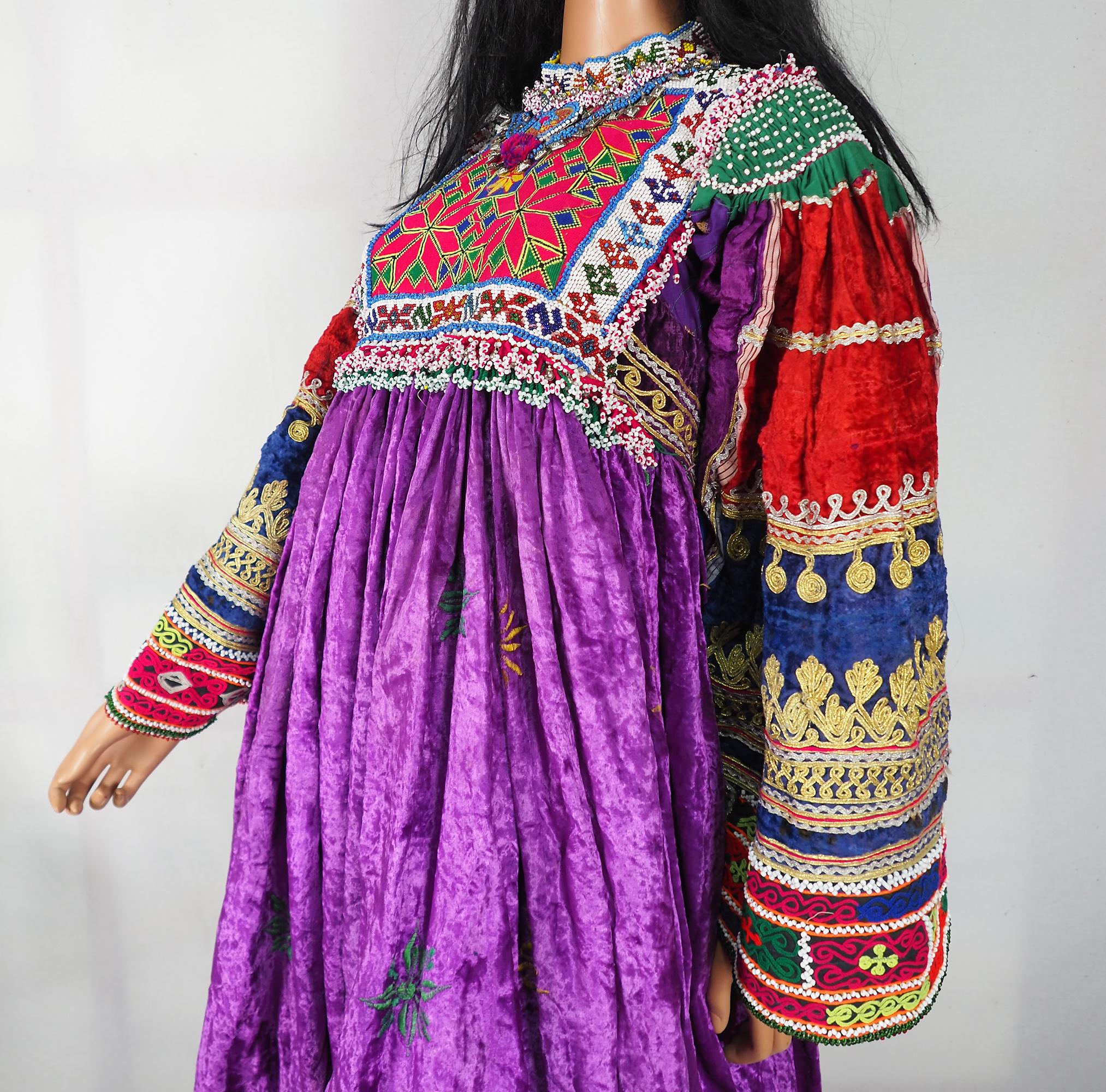 hand bestickt Nomaden kuchi frauen Hochzeit Tracht aus afghanistan  Nr-WL21-5
