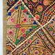 88x54 cm  Vintage Bohemian oriental  Patchwork wall hanging No:21/3