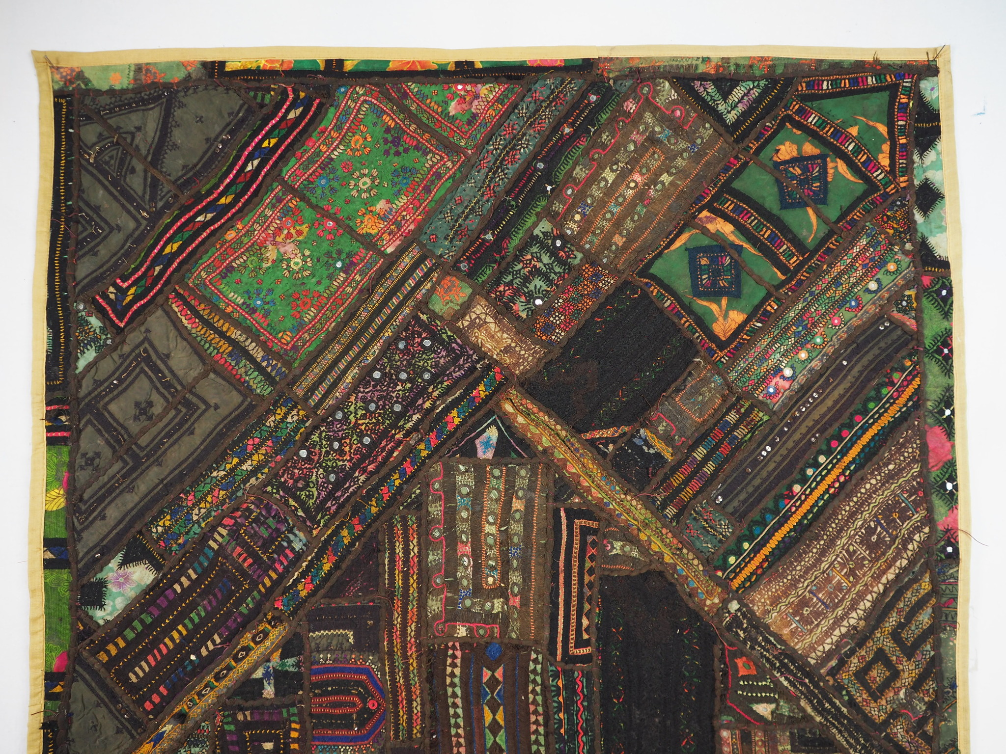 170x97 cm  Vintage Bohemian oriental  Patchwork wall hanging No:21/5