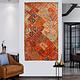 170x100 cm  Vintage Bohemian oriental  Patchwork wall hanging No:21/6