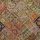 174x100 cm  Vintage Bohemian oriental  Patchwork wall hanging No:21/8