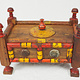 handpainted  wooden Lacquerware  Spice Box from Afghanistan / Pakistan No:A