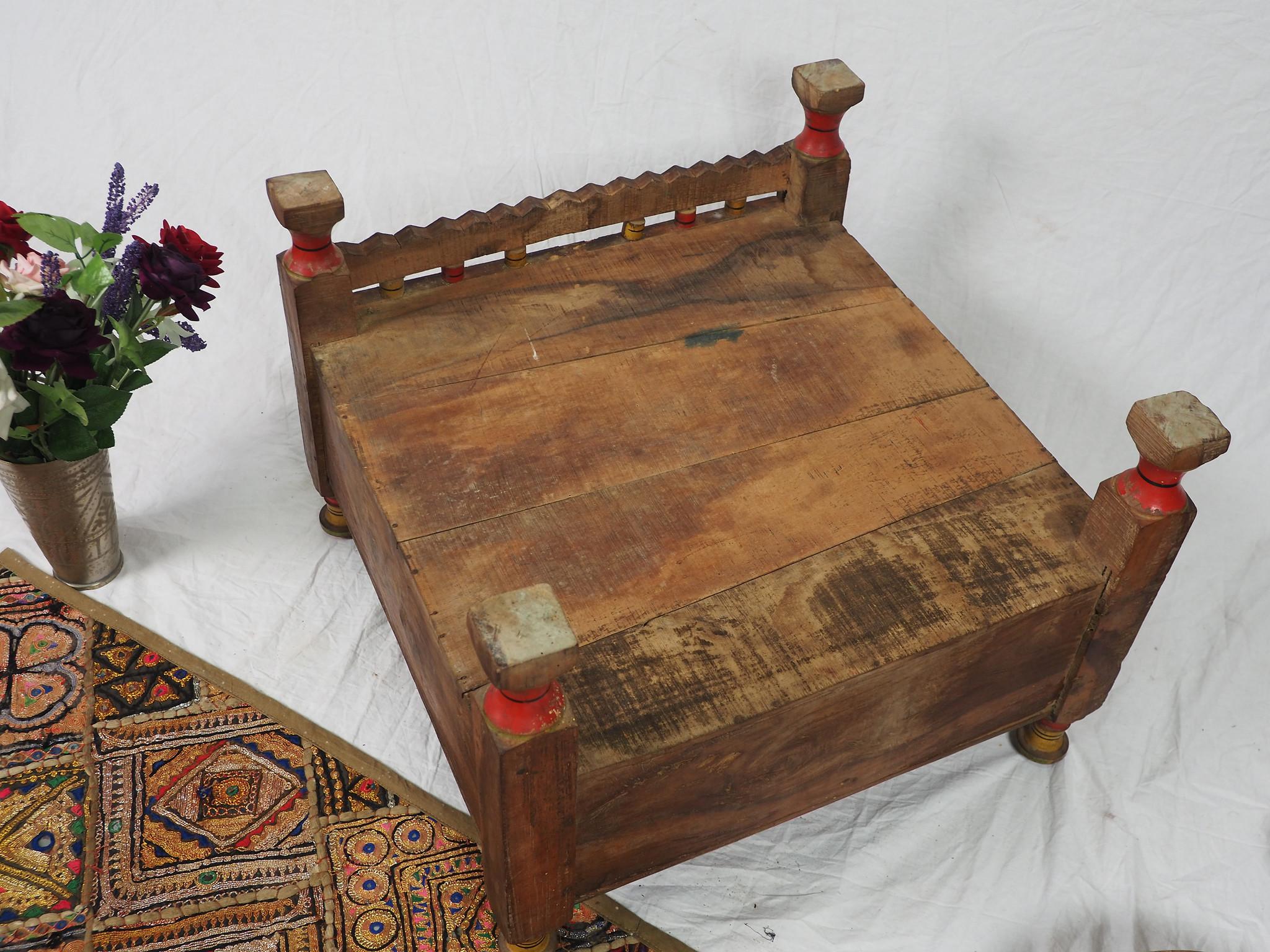 Antik  Teetisch   Mit Geheimfach aus  Afghanistan Nr-21/E
