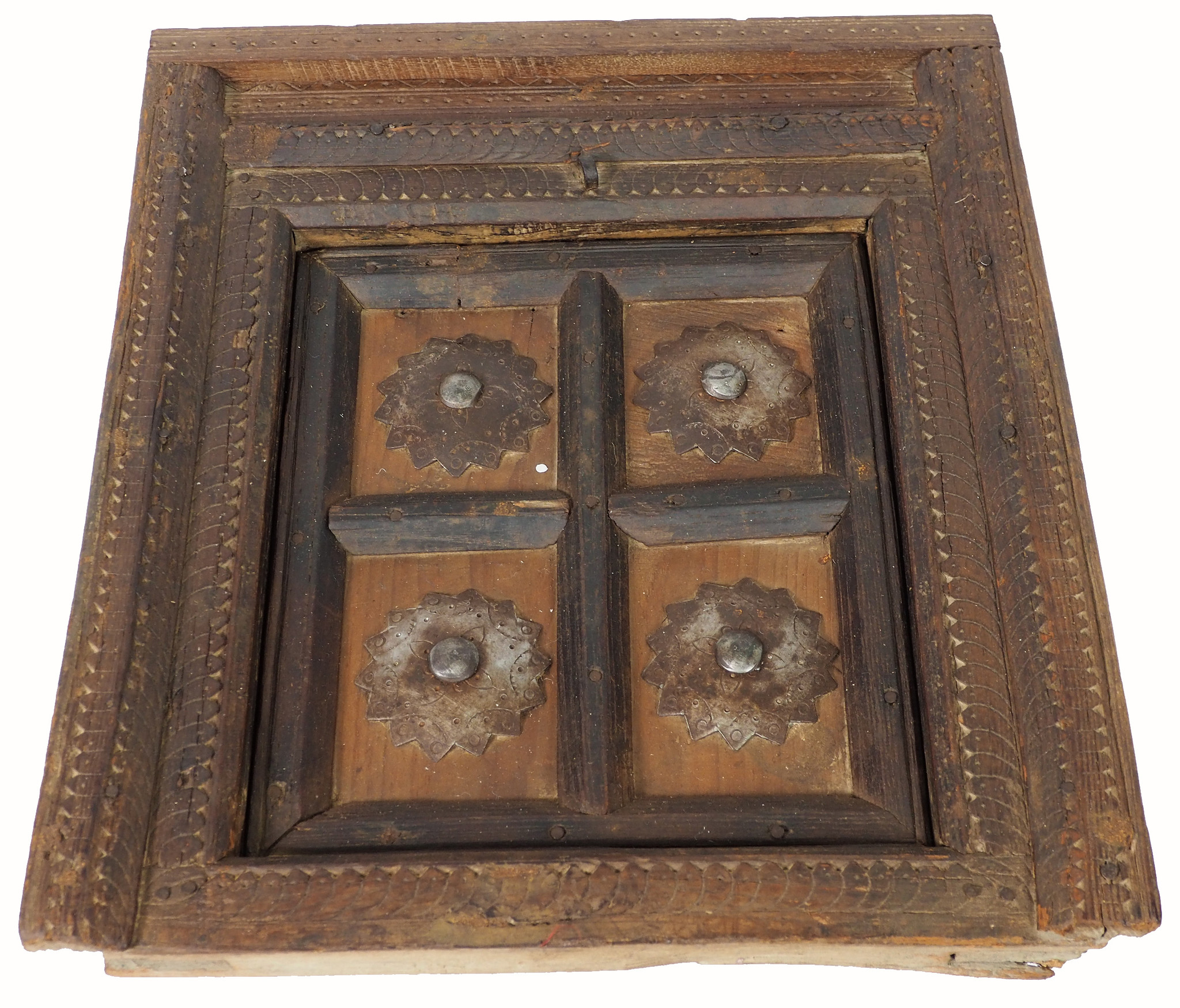 orient vintage carved wooden window from Nuristan Afghanistan   -No:6
