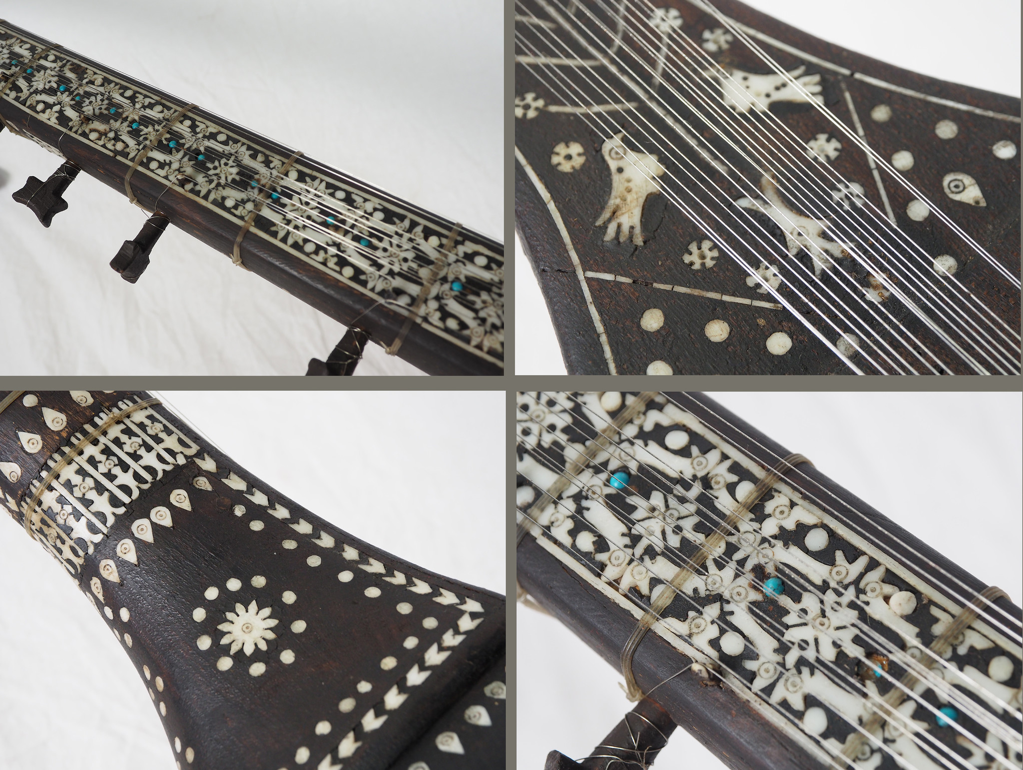 antik exotische traditionelle Volksmusikinstrument Afghanistan Tambur Tanbur tanboor Afghan Langhalslaute تنبور Nr-21