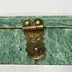 echt Serpentinstein Schmuck Dose schatulle Gefäß Dose Büchse deckeldose Süßigkeiten dose Serpentin Shah Maghsoud Grün Jade aus Afghanistan -21/B