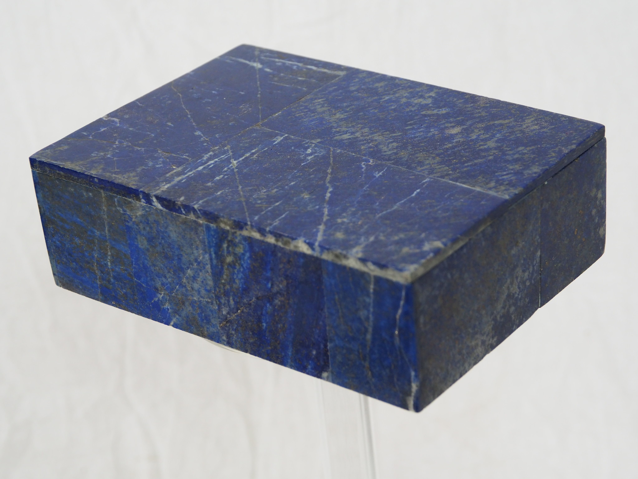 Hand Crafted stunning genuine Afghan Lapis Lazuli Gemstone  Box   from Afghanistan No:21/D