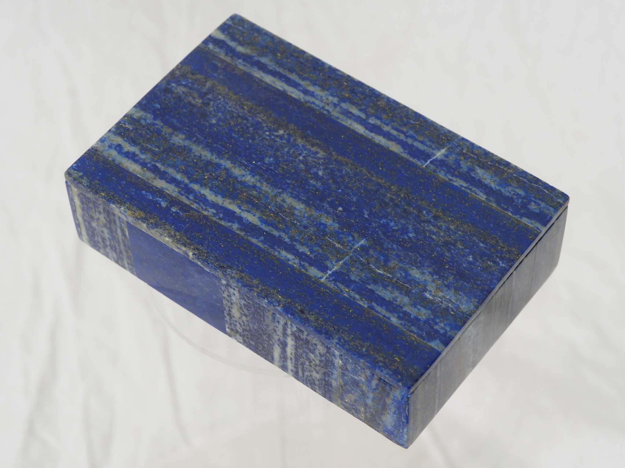 Hand Crafted stunning genuine Afghan Lapis Lazuli Gemstone  Box   from Afghanistan No:     21/G