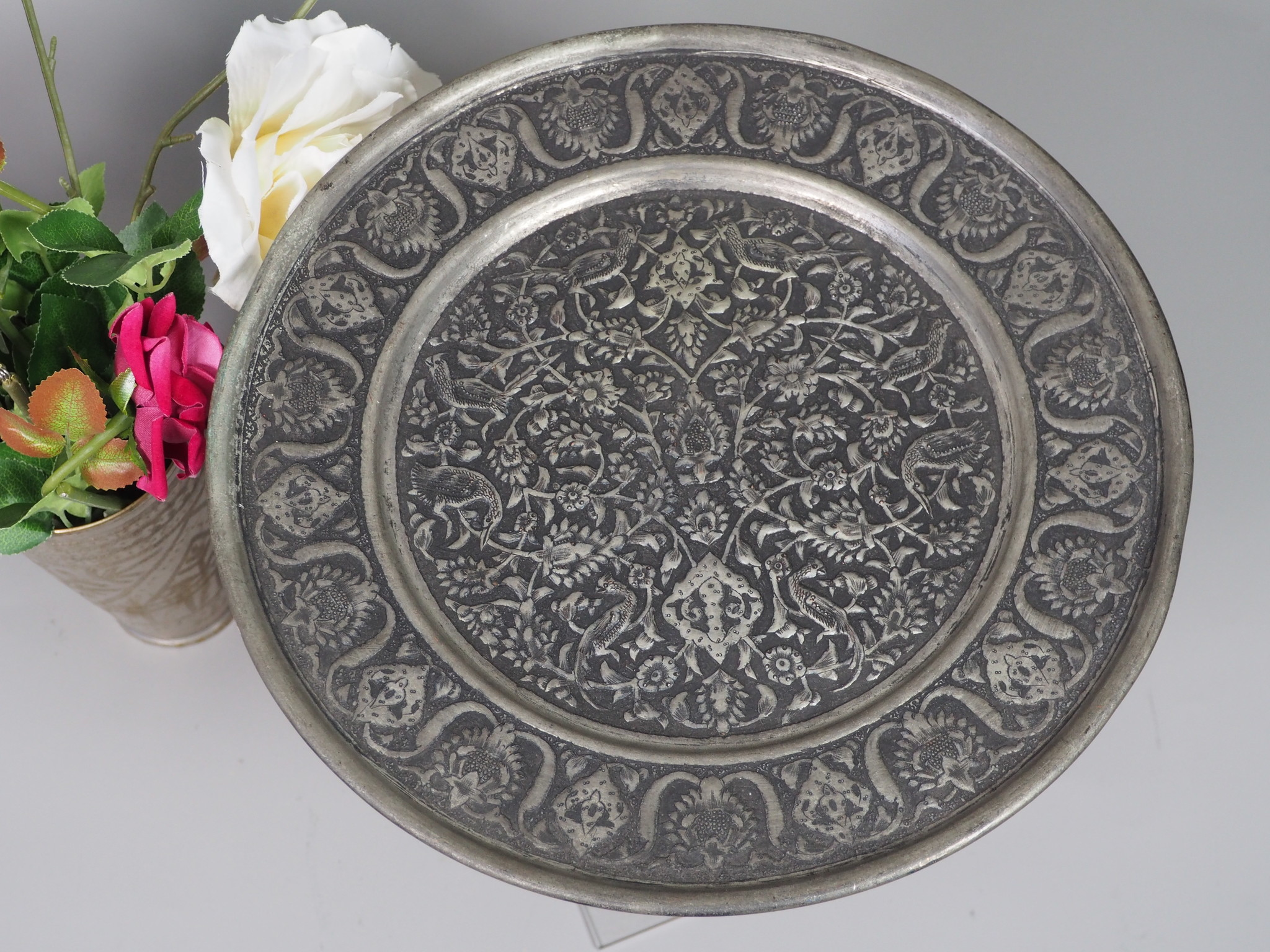 30 cm antique copper tray No: K17