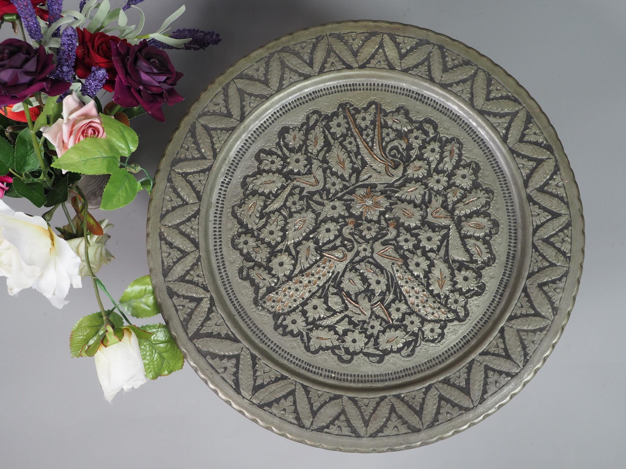 30 cm antique copper tray No: K38