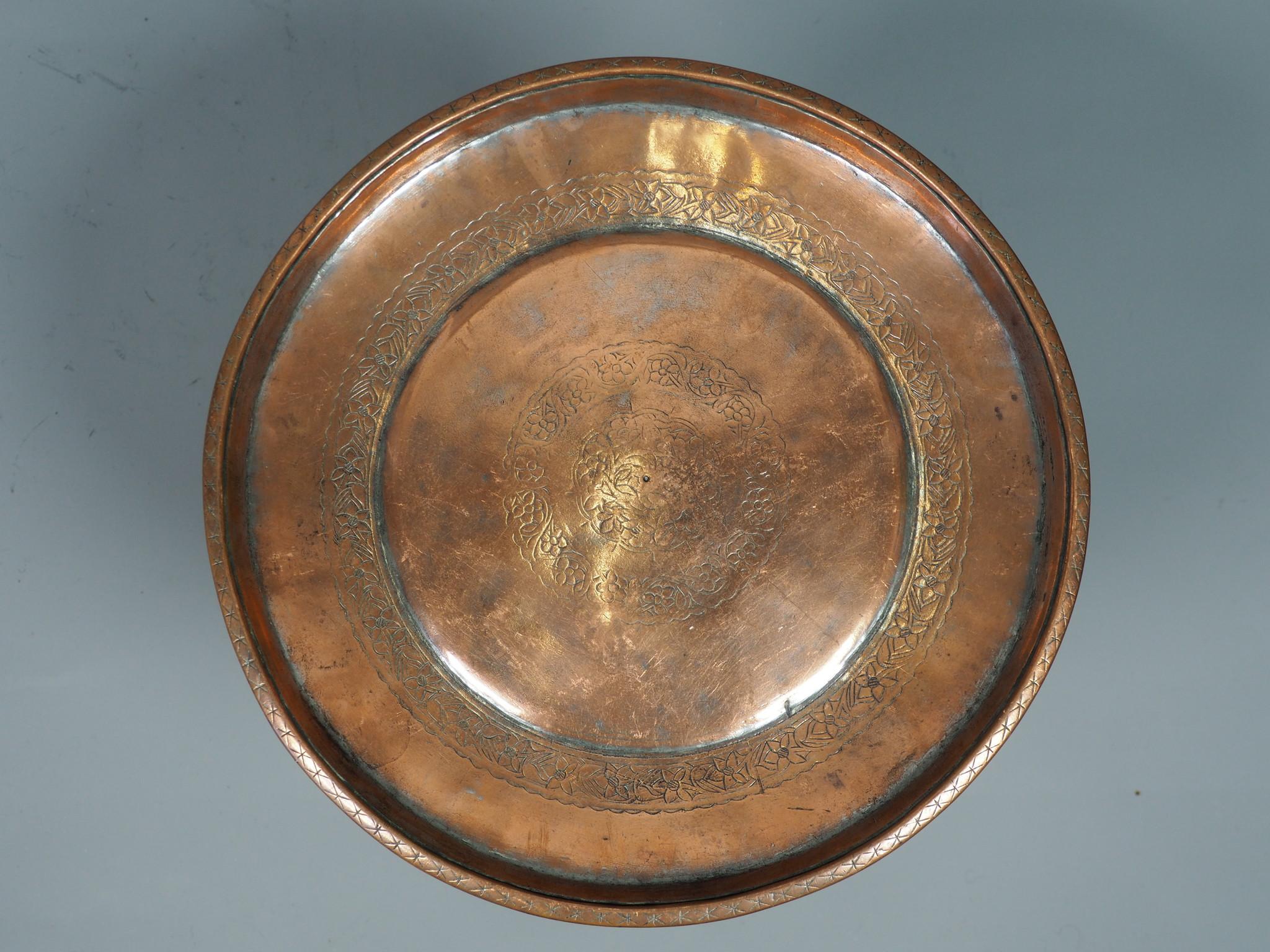 31 cm antik Kupfer Teller No:K23