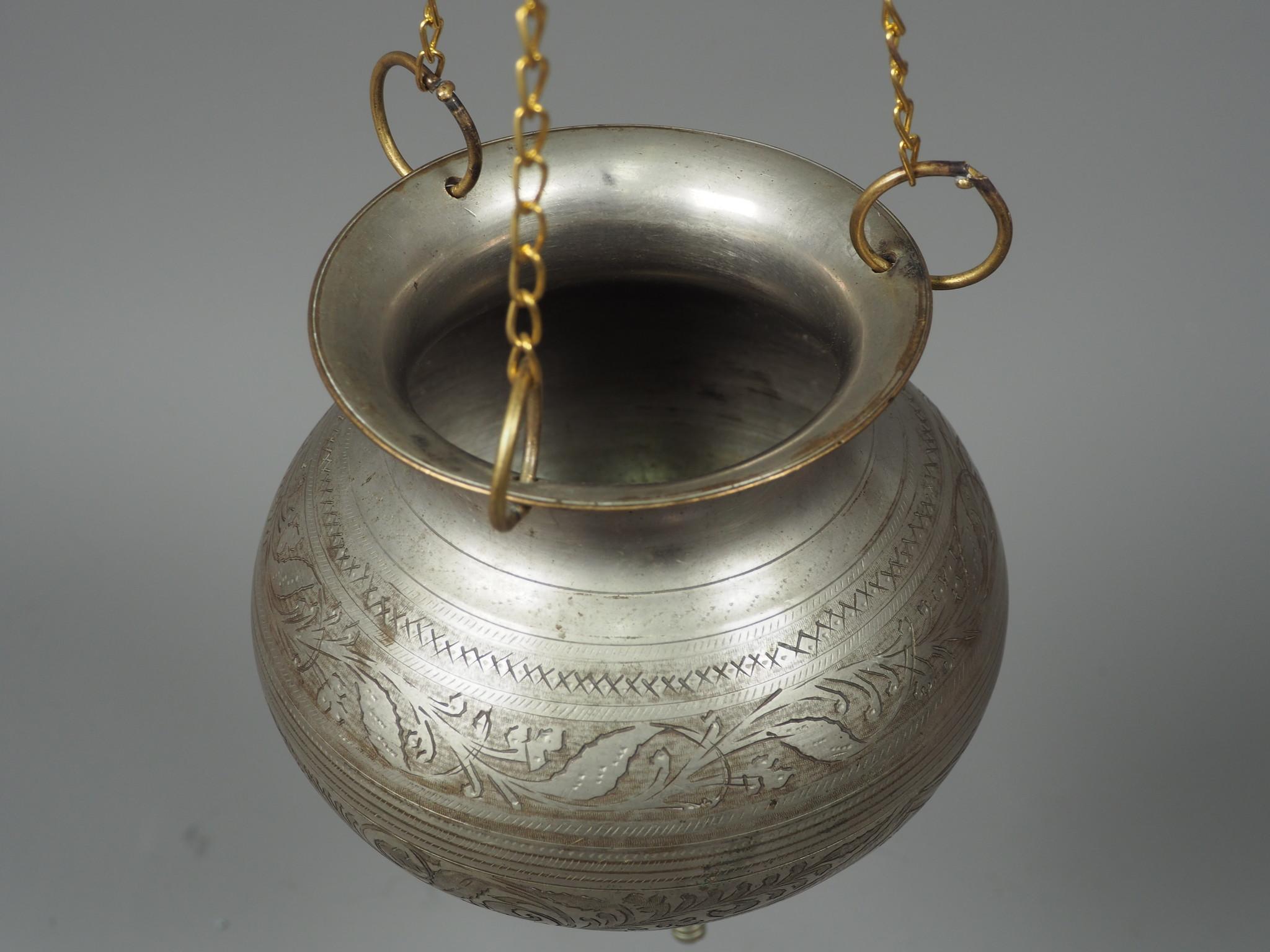 antique solid copper orient Ayurvedic Shirodhara Panchakarma oil therapy Yoga Dhara vessel Patra india -No:  21/14