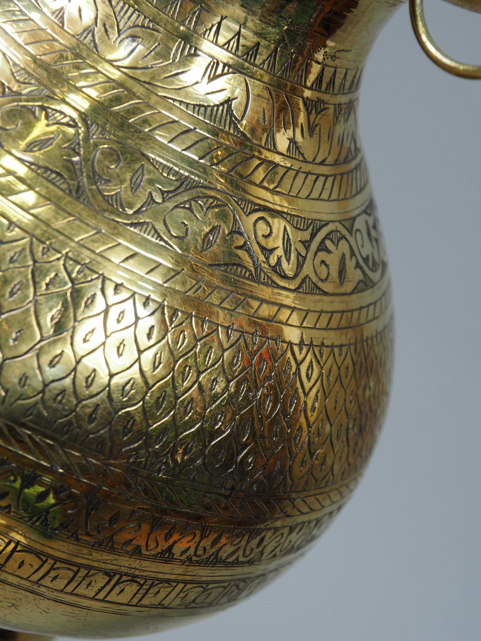 2 Liter antik orient Massiv Messing Ayurveda Shirodhara Stirnguss Stirnölguss öl-Therapie Panchakarma Yoga Dhara Vessel gefäß -Nr: 21/ 14 - Copy - Copy