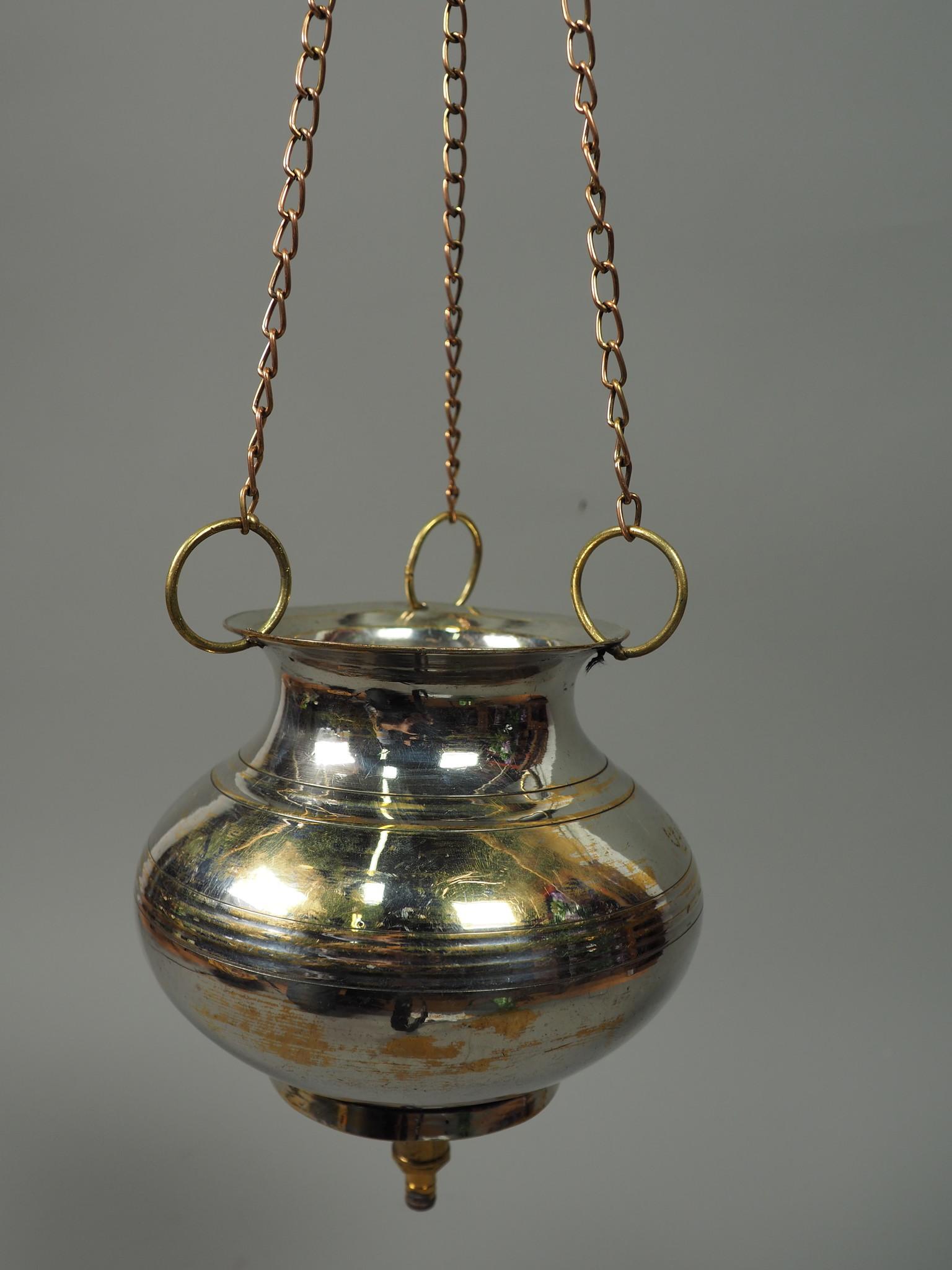 1 Liter antik orient Massiv Messing Ayurveda Shirodhara Stirnguss Stirnölguss öl-Therapie Panchakarma Yoga Dhara Vessel gefäß -Nr: 21/ 20