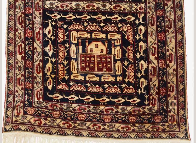 142x95 cm  original  Kriegsteppich aus Afghanistan – handgeknüpft alikhoja Nr:16