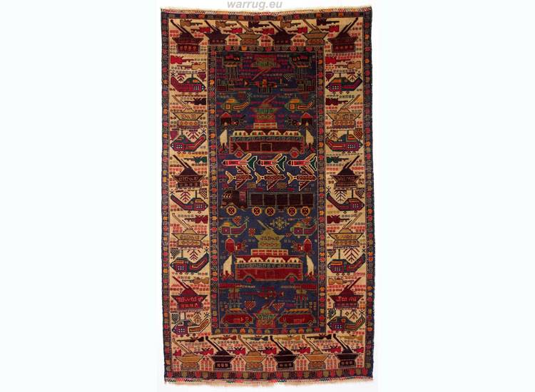 210x120 cm  original  Kriegsteppich aus Afghanistan – handgeknüpft alikhoja Nr:14
