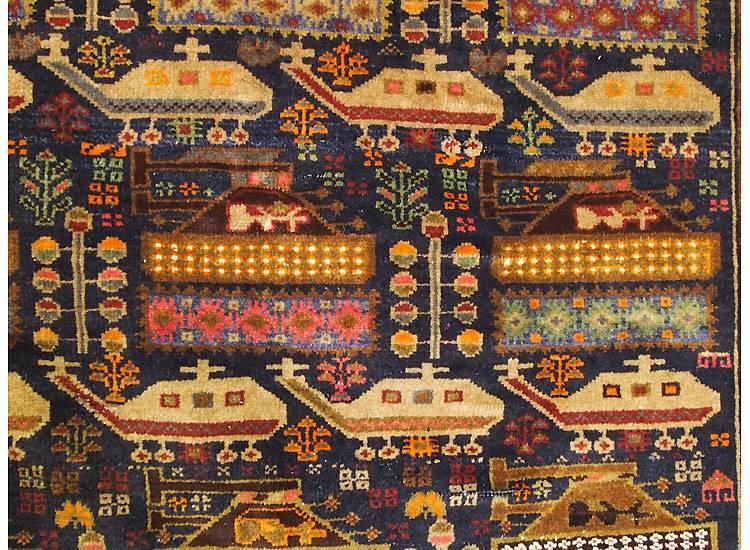 187x120 cm  original  Kriegsteppich aus Afghanistan – handgeknüpft Nr:2014/10
