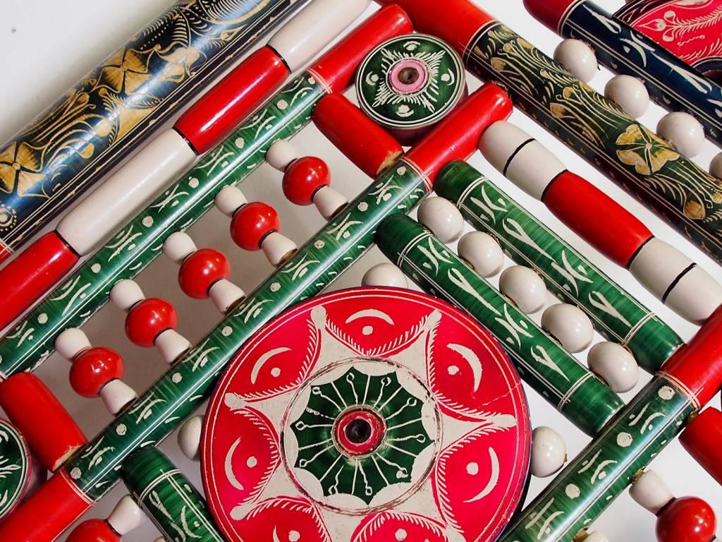 luxuriöse orient Handbemalt Lackware Hochzeit Stuhl Pakistan A