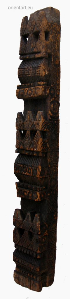 antique orient solid hand-carved wooden Pillar column from Nuristan Afghanistan antike Säule Nuristan Nr-A