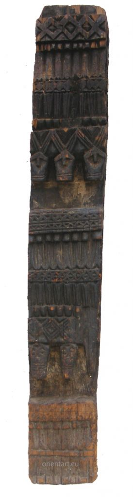 antique orient solid hand-carved wooden Pillar column from Nuristan Afghanistan antike Säule Nuristan Nr-E