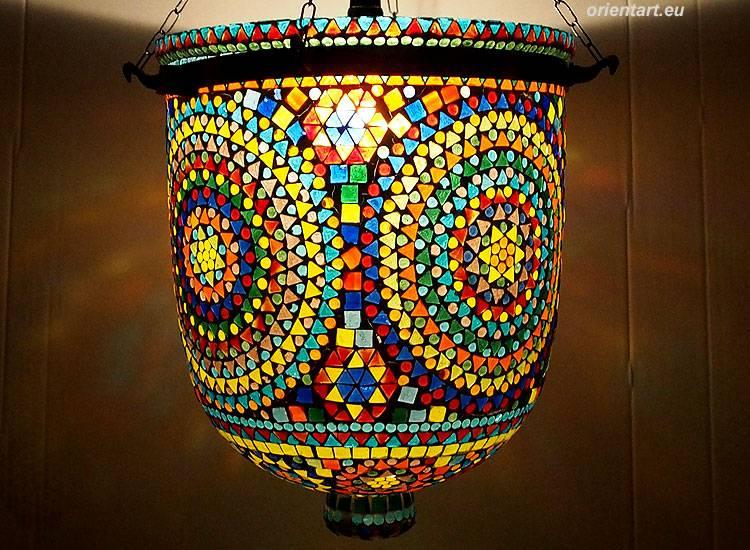 Glass Hundi Pendant Lamp With Single Fitting No:12