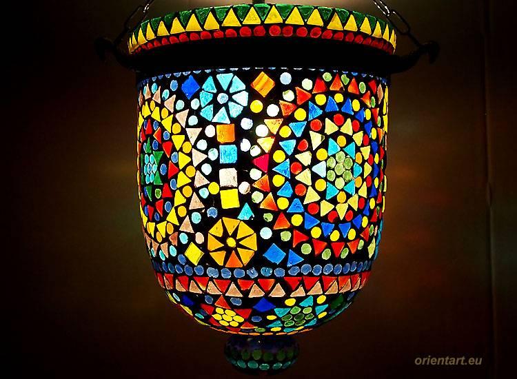 Mosaik Bell Jar Glas lampe Nr:7
