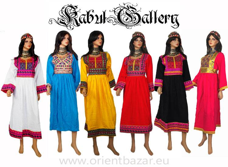 Original Afghan women hand embroidered nomadic Kuchi Ethnic dress from Afghanistan 24