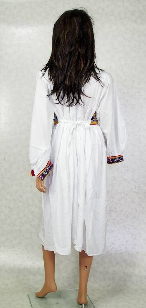 Afghani Nomaden Kleid  Tracht weiss/ 23
