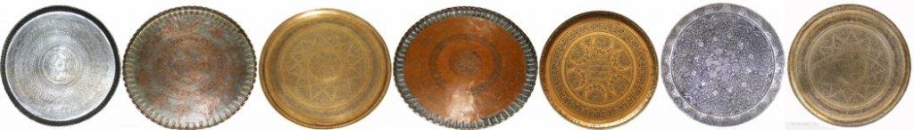 Brass & copper trays