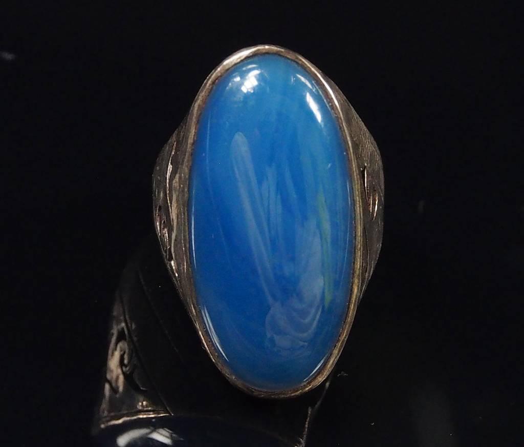antik   Blauachat ring Nr:61