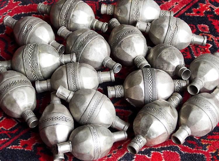 Old Ersari Turkoman Silver Beads 16/A