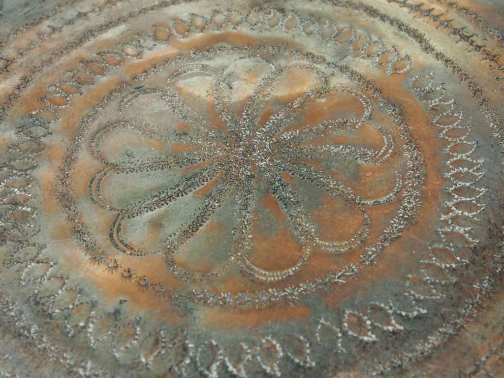 29 cm antik Kupfer tablett No:K15