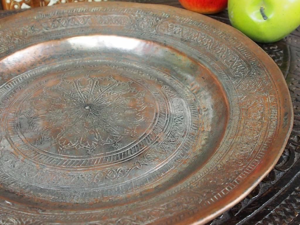 30 cm antik Kupfer Teller No:K22