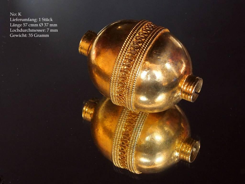 Antik Turkmen Silber Perlen vergolder