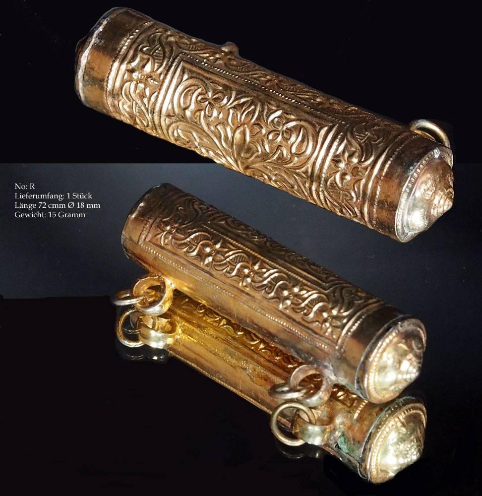 Antik Turkmen Silber Perlen vergoldet